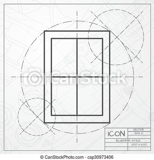 El icono de la ventana - csp30973406
