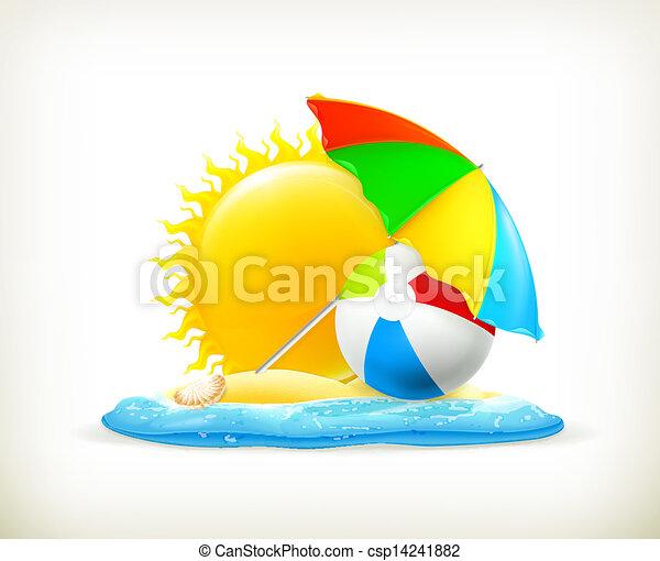 icono de verano, vector - csp14241882