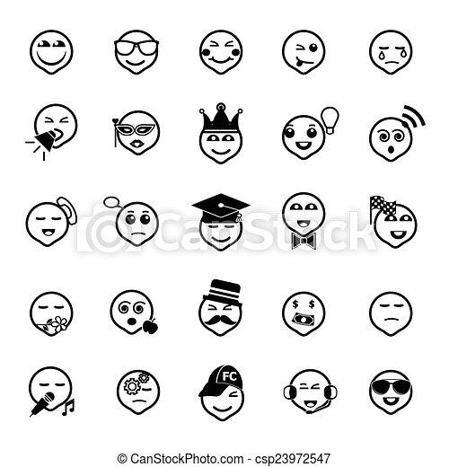 Los iconos de la línea de acción en blanco - csp23972547