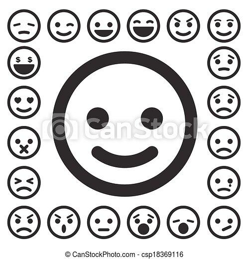 Caras sonrientes listas - csp18369116