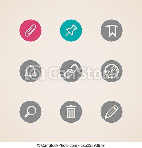 Un conjunto de iconos web - csp23593972