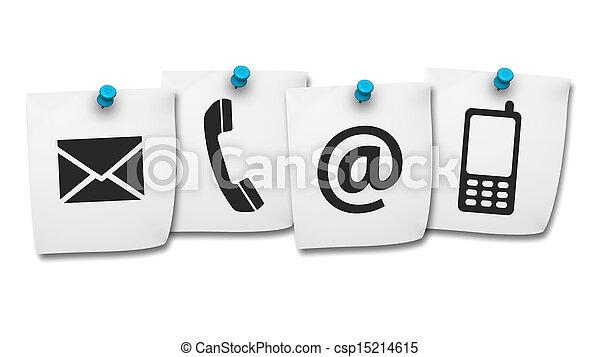 Contacta por internet con los iconos en el correo - csp15214615
