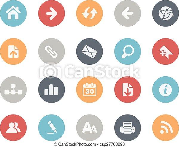 //, iconos de la tela, clásico, serie - csp27703298