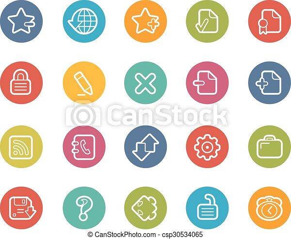 iconos de la tela - csp30534065