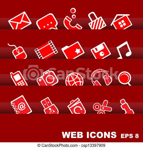 iconos de la tela - csp13397909