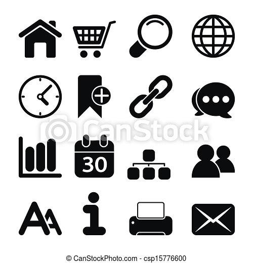 iconos de la tela - csp15776600