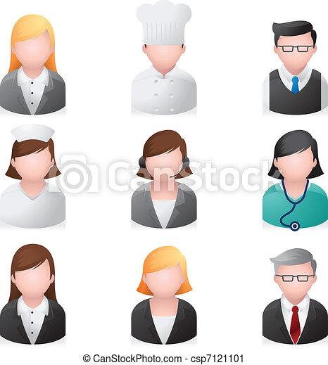 iconos de la red, gente profesional - csp7121101