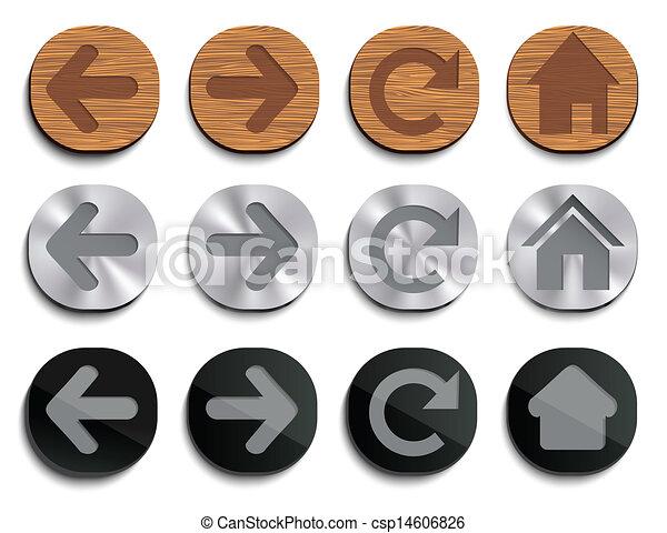 iconos de la tela - csp14606826