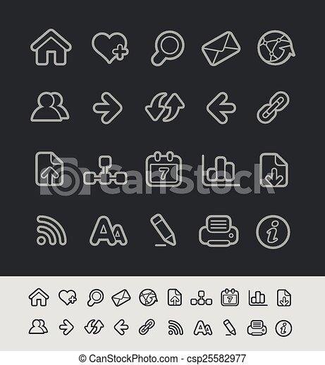 iconos de la tela - csp25582977