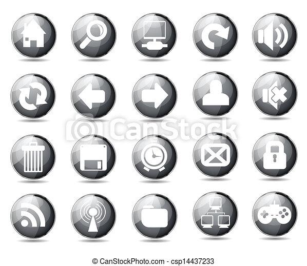 iconos de la tela - csp14437233