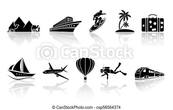 Íconos de viaje - csp56564374