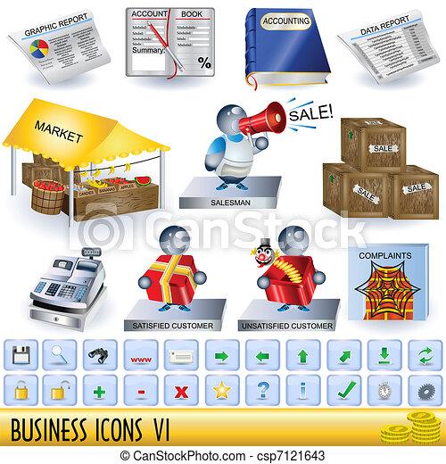 Íconos de negocios 6 - csp7121643