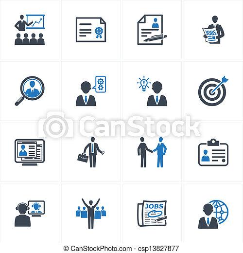 Empleo y iconos empresariales - csp13827877