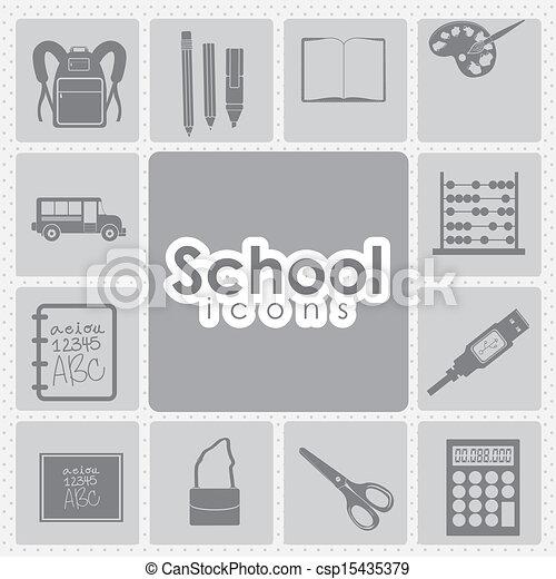 iconos escolares - csp15435379