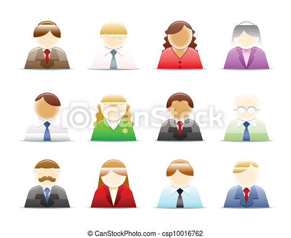 Personas (trabajadores) íconos preparados - csp10016762