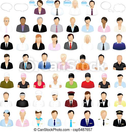 Icones de gente - csp5487657