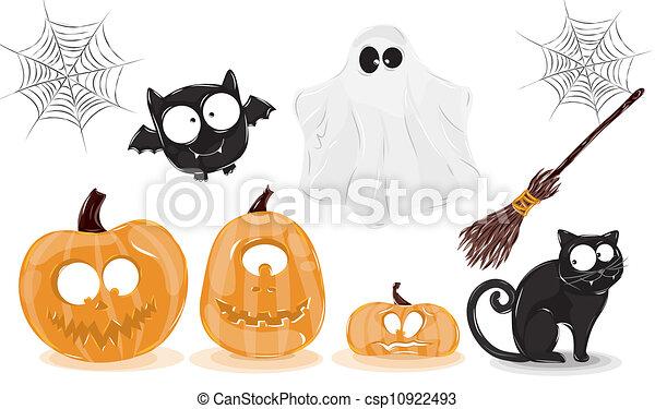 Icons Halloween - csp10922493