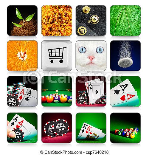 Colección de iconos para programas y juegos - csp7640218