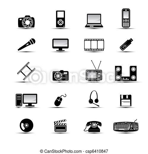 Simples iconos multimedia - csp6410847
