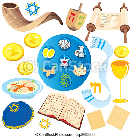 Recortes judíos de arte y símbolos - csp2698282