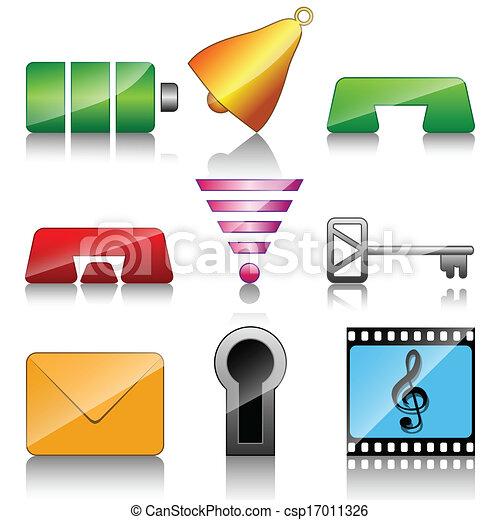 Iconos para teléfono móvil - csp17011326