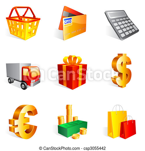 icons., 買い物 - csp3055442