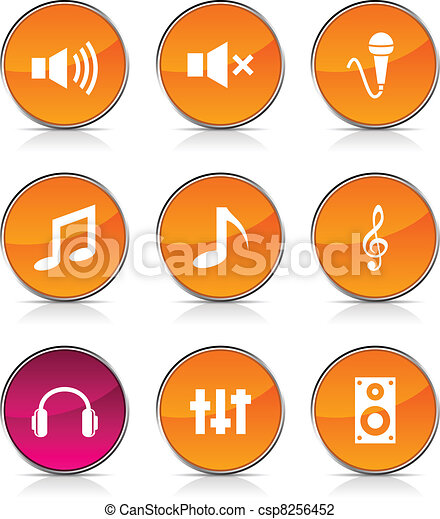 icons., audio - csp8256452