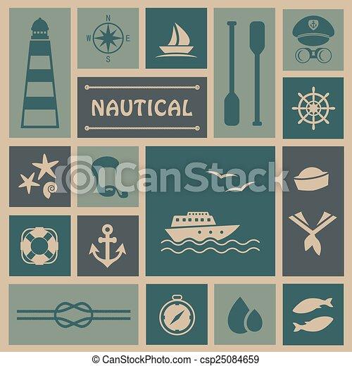 icons, fishing boat, - csp25084659
