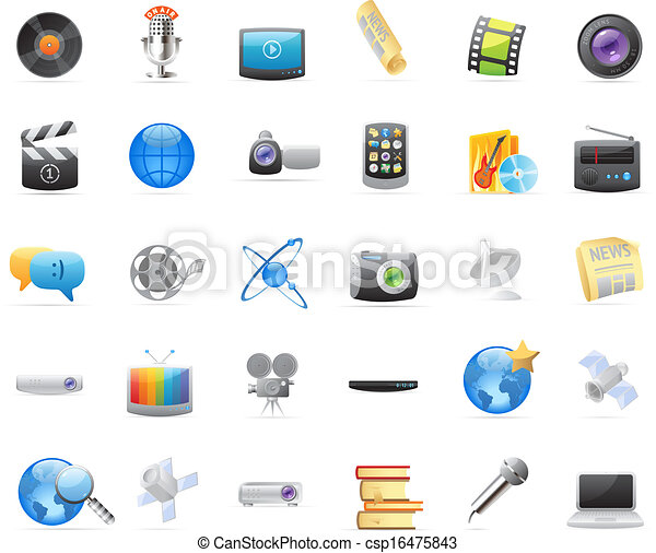 Icons for media - csp16475843