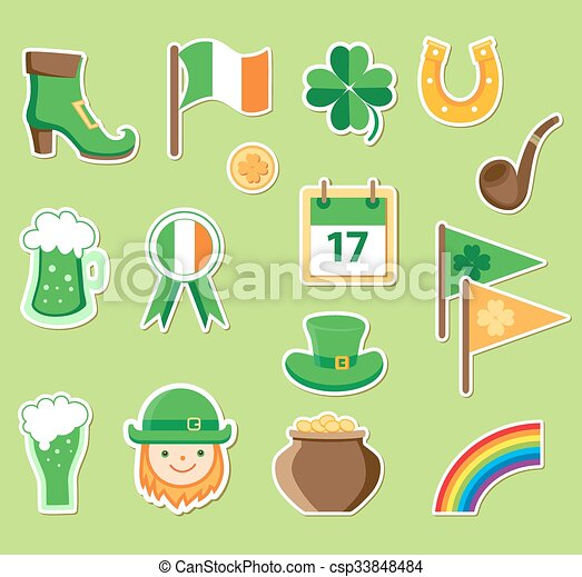 Icons for St. Patrick's Day - csp33848484