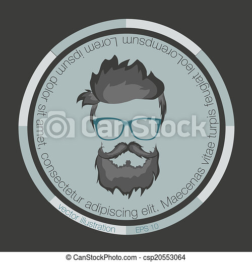 icons hairstyles beard  - csp20553064