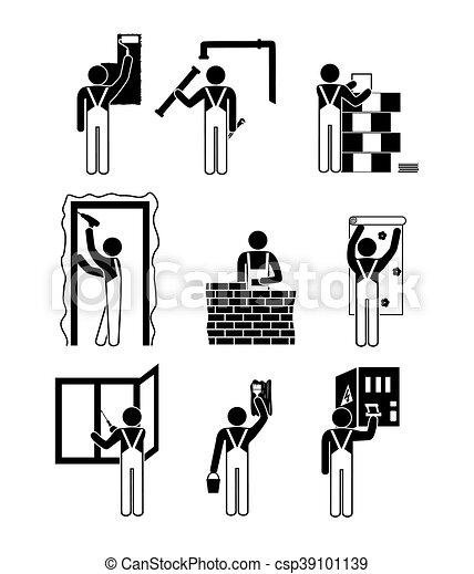 Icons home repairs - csp39101139