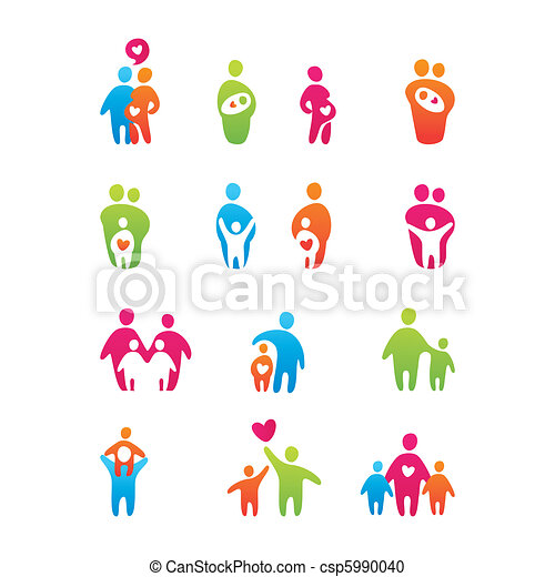icons-kids-and-parents - csp5990040