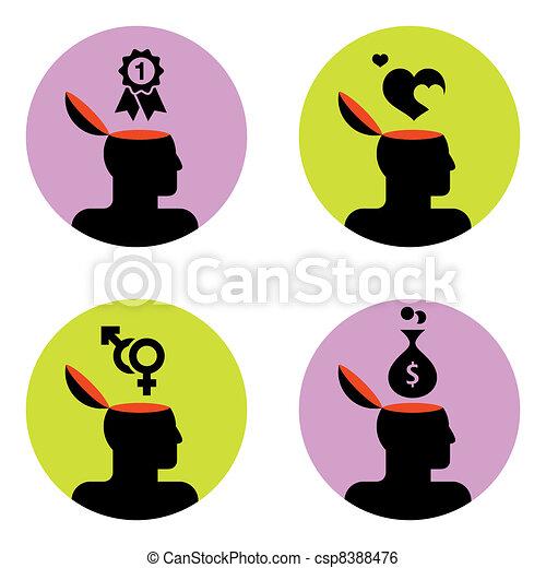 icons of head - csp8388476