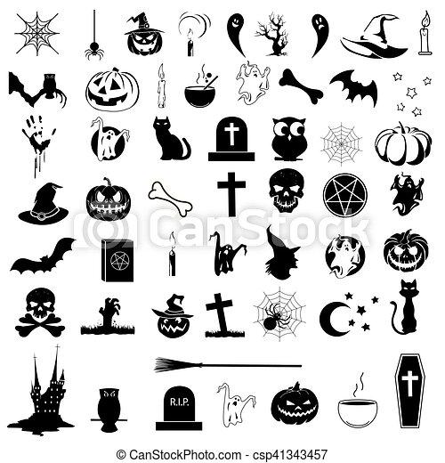 Icons on the theme of Halloween - csp41343457