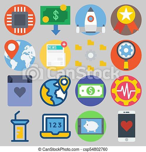 icons set about Digital Marketing . [keyword Random:3] - csp54802760