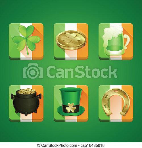 Icons St Patrick's Day - csp18435818