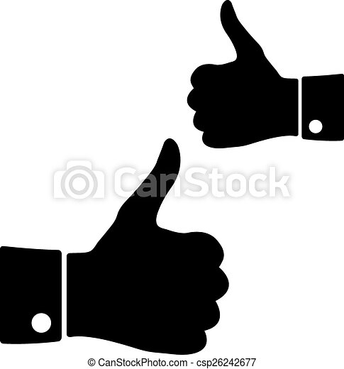 Icons thumbs up, vector - csp26242677
