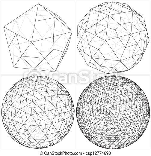 Icosahedron Kruh Koule Zamestnani Vector