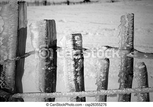 Icy fence - csp26355276