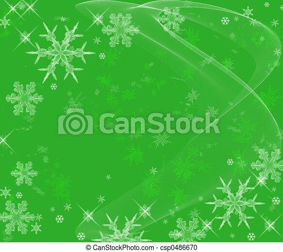 Icy Snowflakes Background - csp0486670