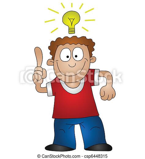 idée lumineuse - csp6448315