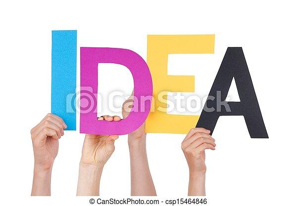 idée, tenant mains - csp15464846