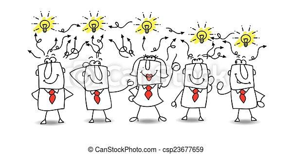 idées, échange - csp23677659
