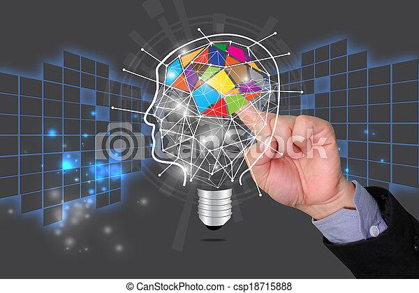 idéia, conhecimento, conceito, compartilhar, educação - csp18715888