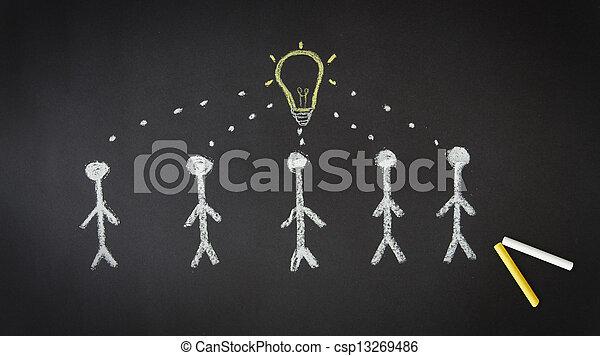 idéia, um - csp13269486