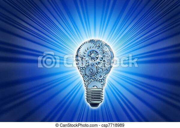idéias novas, trabalhando - csp7718989