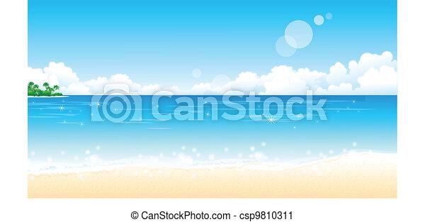 Playa idílica - csp9810311
