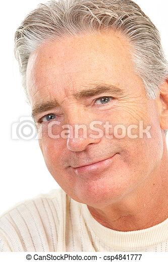 idősebb ember, öregedő bábu - csp4841777