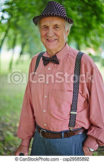 idősebb ember, boldog, ember - csp29585892